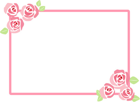 Rose frame decorative frame