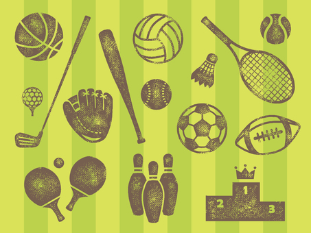 Sports goods stamp