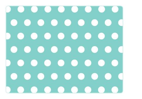 Polka dot (mint blue)