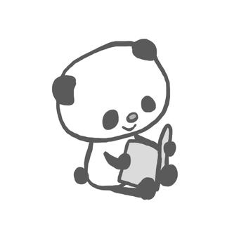熊貓讀一本圖畫書