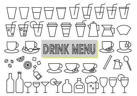 Drink menu set