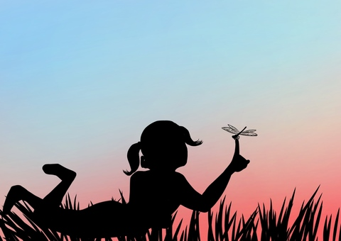 Dragonfly and girls