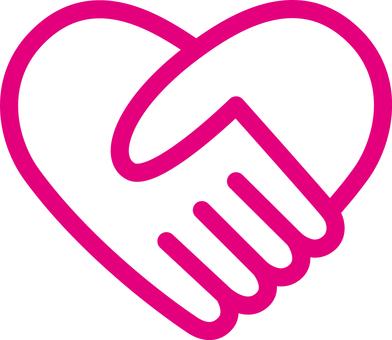 Heart _ handshake _ pink