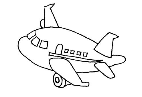 비행기 흑백