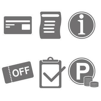Store icon set