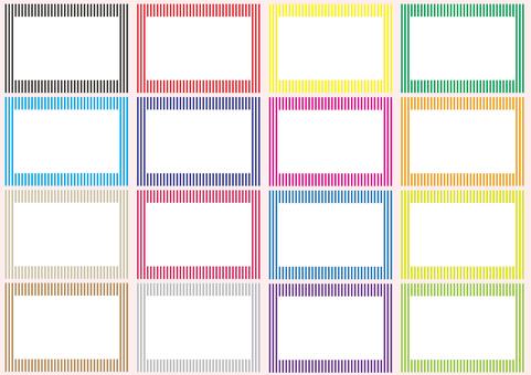Stripe frame set