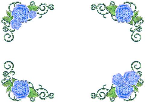 バラのフレーム(青)