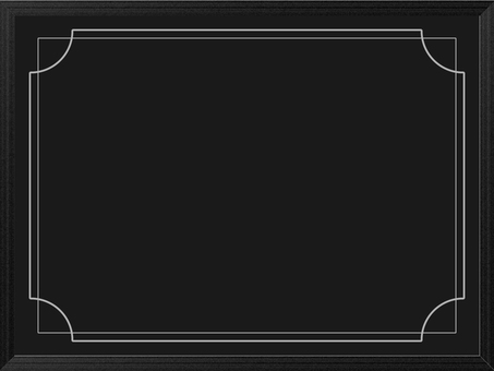 Wood grain frame Black board side 2