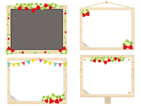 Strawberry frame signboard