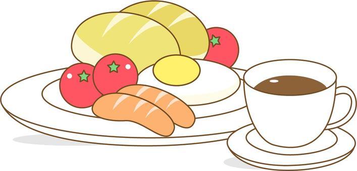 아침 · 양식과 커피