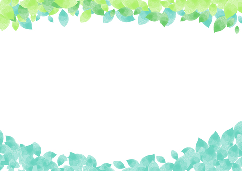 Watercolor simple thin leaves