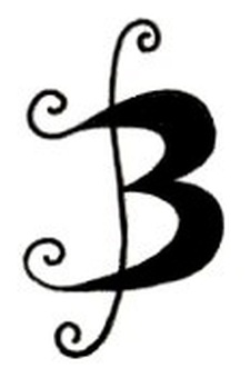 The alphabet 'B'