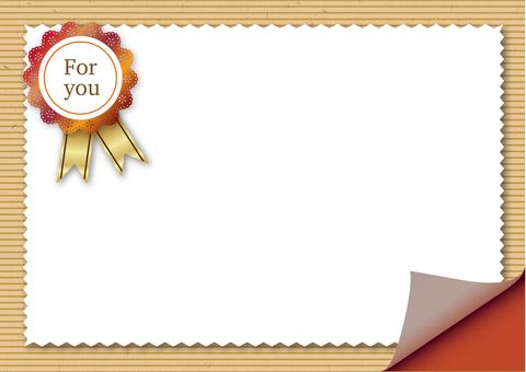 Streaked Kraft paper-like gift background