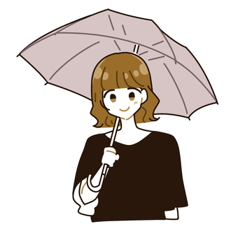 Umbrella woman 2