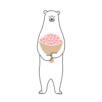 A bouquet of bears and hearts