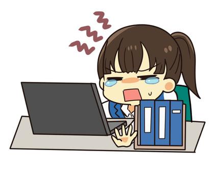 【工作】對電腦工作感到困擾的OL