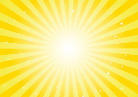 光線(黄色)