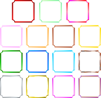 Square simple frame 15 patterns
