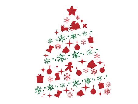 剪影的聖誕樹