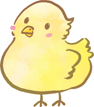 Chick (watercolor style)