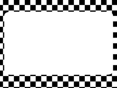 Block checked black frame