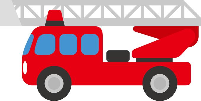 Simple fire truck ladder car