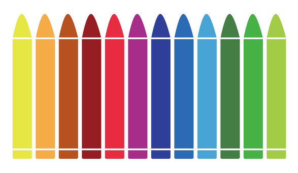 Illustration material Crayon 12 colors