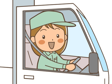 A woman driving a truck Driver 2