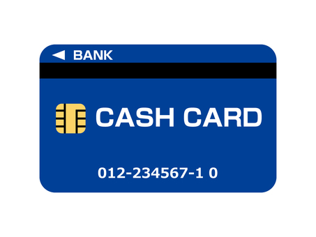 Cash card (bank card) Blue