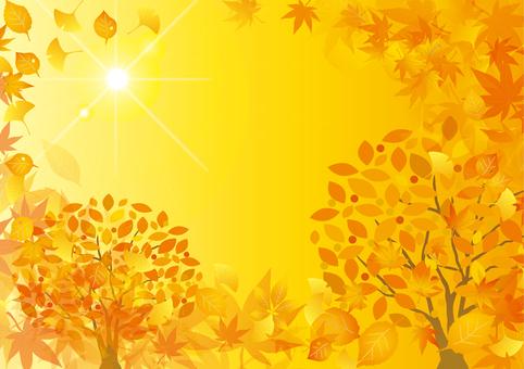 秋の落ち葉の背景その2