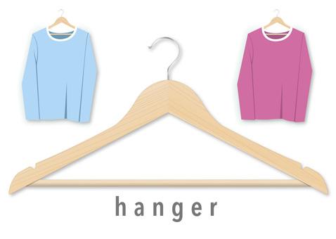 Wooden real hanger