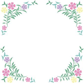 花のフレーム2(彩色)