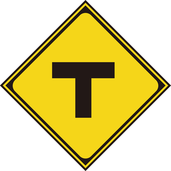 Road intersection with T type