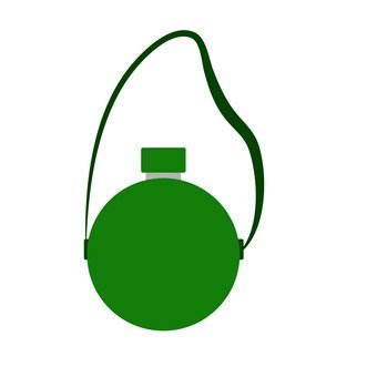 Water bottle (green)
