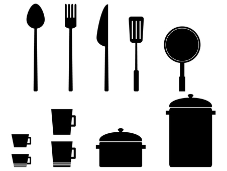 Cooking utensil silhouette