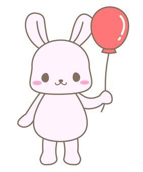 Usagi and balloons