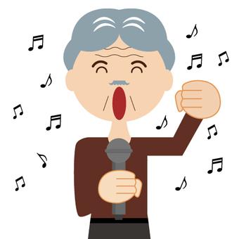 A man sang at a karaoke