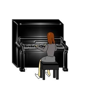 피아노를 치는 여자