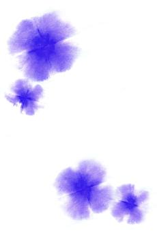 Watercolor flower postcard size