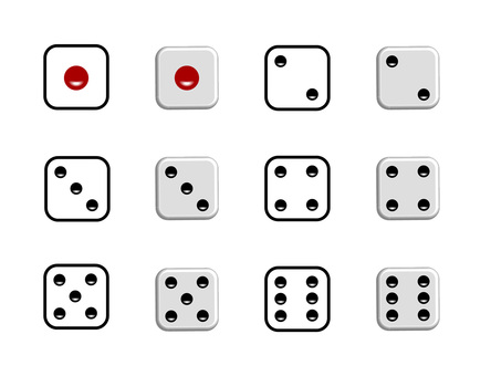 Eye of a dice · 1 to 6