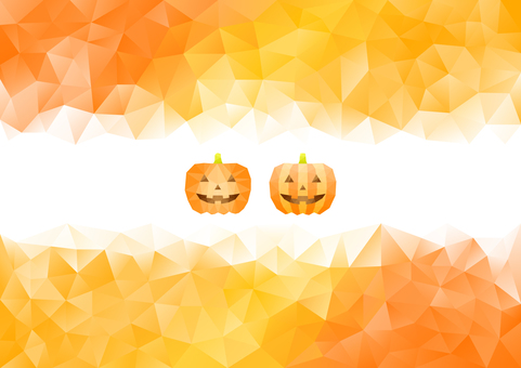 Halloween pumpkin color polygon background