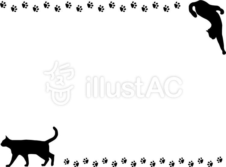 ネコの足跡背景