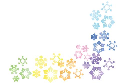 Watercolor Windy snowflake
