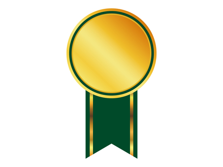 Medal with ribbon · Medal green