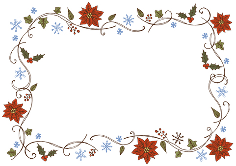 Christmas plant frame color