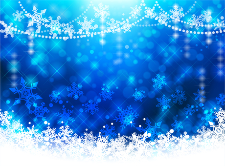 Christmas Background Image - Blue