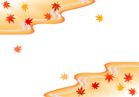 Autumn leaves back handle