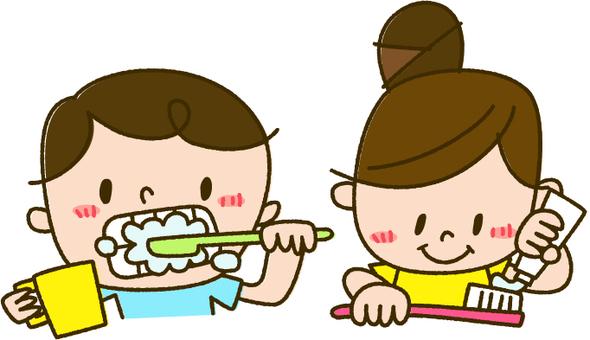 牙膏的例證