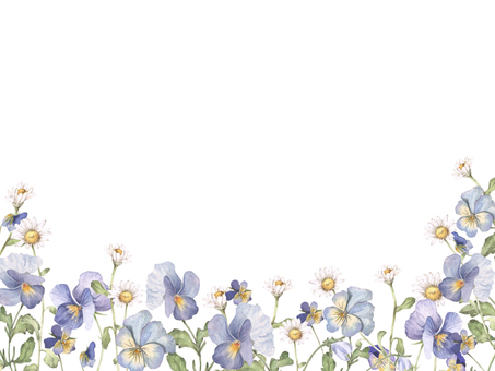 Flower frame 275 - Winter garden flower frame background