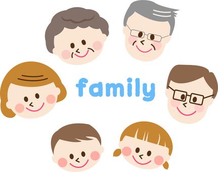 3 generations family